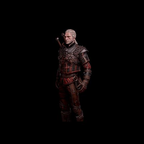 Skórka Geralta w zbroi Wilka