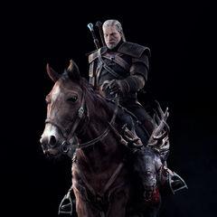 Geralt z trofeum Biesa