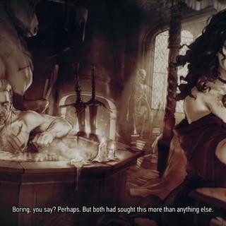 Geralt i Yennefer - zakończenie gry <a href=