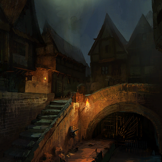 Wyzima Klasztorna nocą