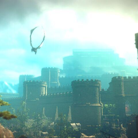 Saesenthessis atakująca wojska Foltesta w zamku La Valette'ów