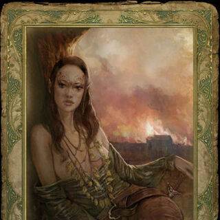Karta seksu elfki Toruviel w grze Wiedźmin