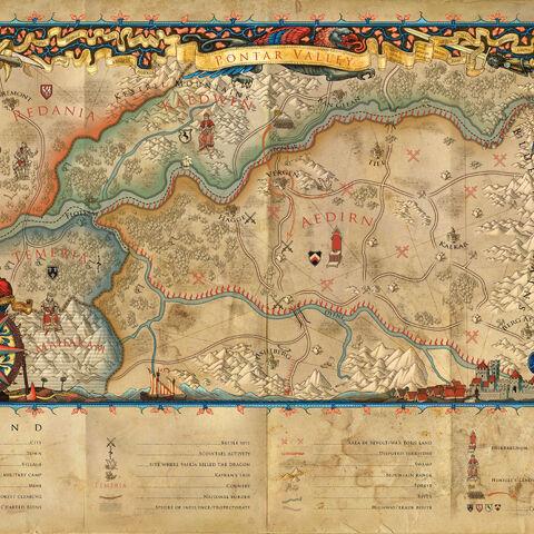 Mapa Górnego Aedirn