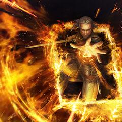 Oficjalna tapeta Geralta Igni od <a class=