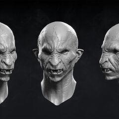 Model wampirzej twarzy Dettlaffa udostępniony przez twórców