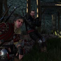 Lambert i Eskel w śnie Geralta