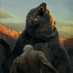 Geralt walczący z <a class=