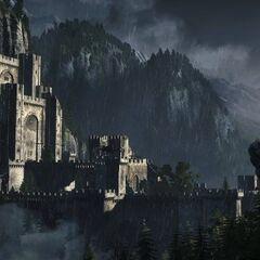 Kaer Morhen z zwiastunu Wiedźmina 3