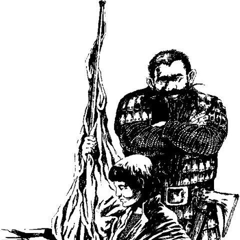 Dennis Cranmer i Jarre na ilustracji czeskiego wydania Pani Jeziora