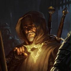 Geralt wykonujący Znak Aksji
