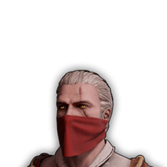 Skórka Geralta w czerwonej chuście