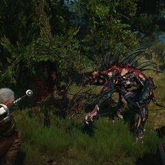 Geralt walczący z alghulem