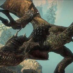 Geralt walczący z Saesenthessis