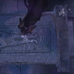 Geralt i Płotka nad grobem