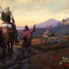 Oficjalna tapeta z Geraltem i Jaskrem