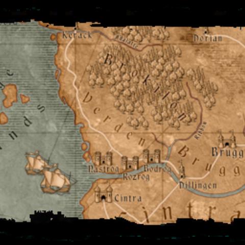 Mapa Skellige w grze Wiedźmin: Gra Komputerowa