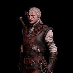 Skórka Geralta w rynsztunku Mantikory