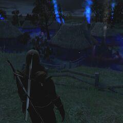 Wioska nocą
