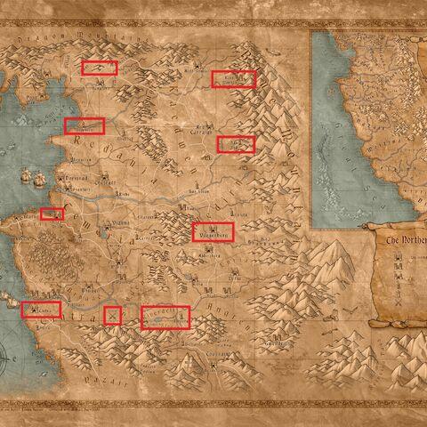 Czytelna mapa z lokacjami