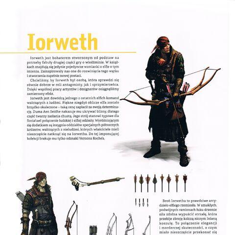 Strona z Artbooka przedstawiająca Iorwetha
