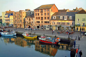 Plymouth Barbican and harbour