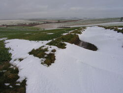 Snowy Yorkshire Wolds at West Lutton
