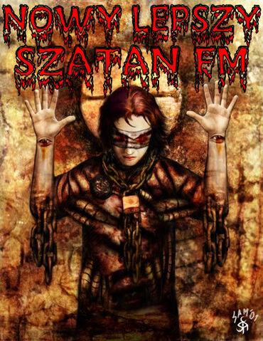 Plik:Jeden z plakatów radia Nowy Lepszy Szatan FM.jpg