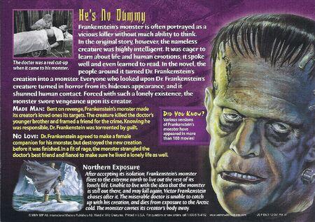 Frankenstein's Monster back