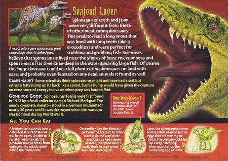 Spinosaurus back