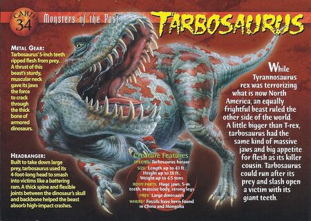 Tarbosaurus front