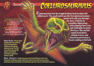 Coelurosauravus front