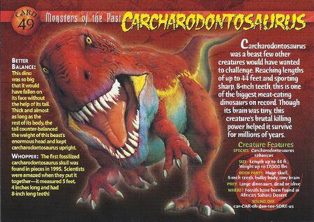 Carcharodontosaurus front