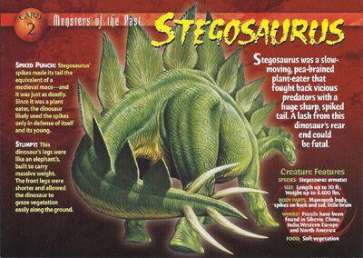 Stegosaurus front