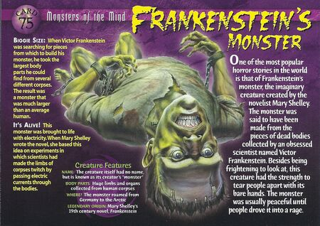 an overview of the unloved creature in frankestein The monster begins to speak lesson summary climax of frankenstein: summary & analysis frankenstein chapter 10 summary related study materials.