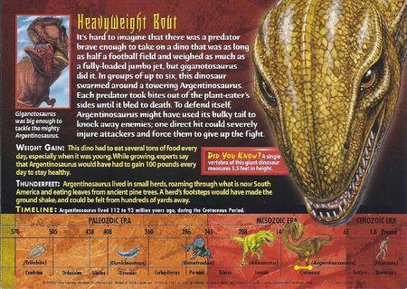 Argentinosaurus back
