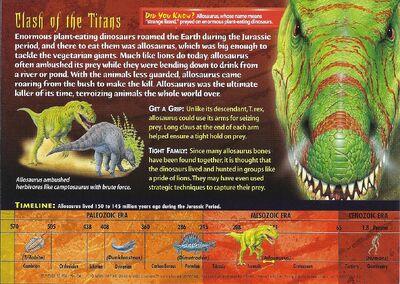 Allosaurus back