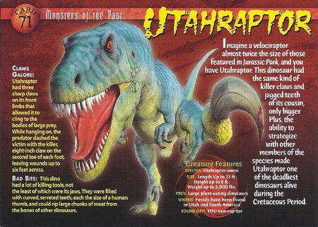 Utahraptor front