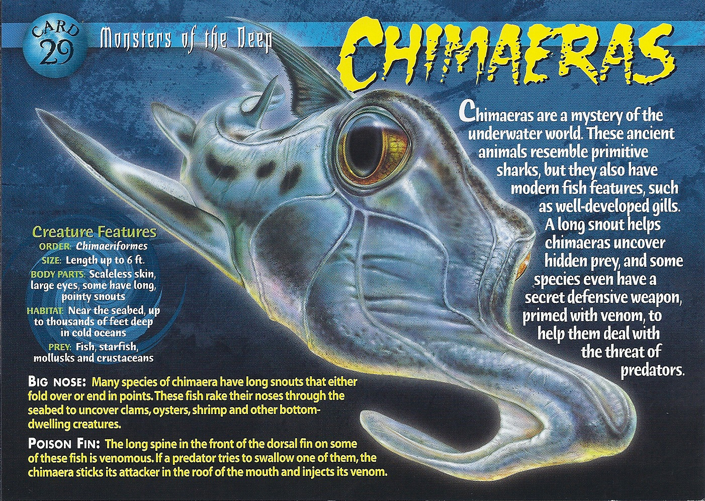 Chimaeras Monsters of the Deep Card 29 front