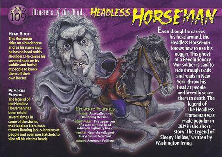 Headless Horseman front