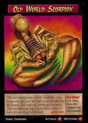 Old World Scorpion
