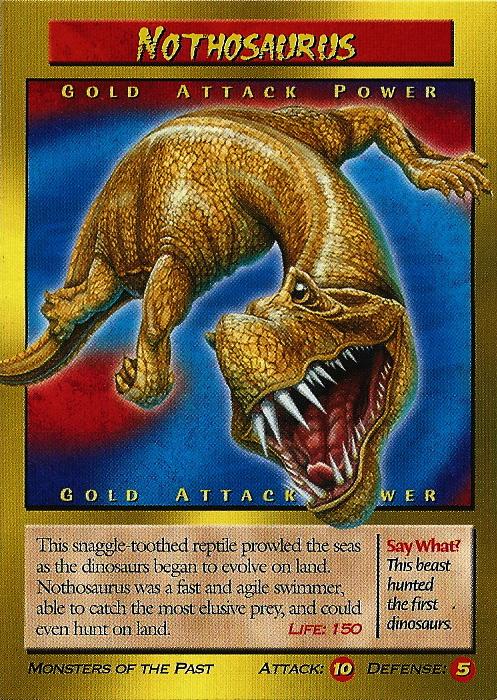 Nothosaurus Tcg Gold Attack Weird N Wild Creatures Wiki