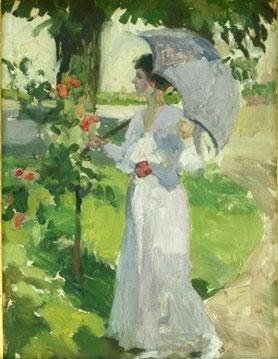 Nicolae Vermont - Femeie cu umbrela