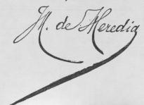 José-Maria de Heredia (French poet) signature