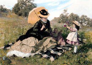 Benczúr A Wreath to Mama 1876