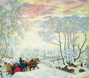 Winter. Kustodiev