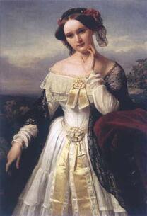 Mathilde Wesendonck by Karl Ferdinand Sohn, 1850