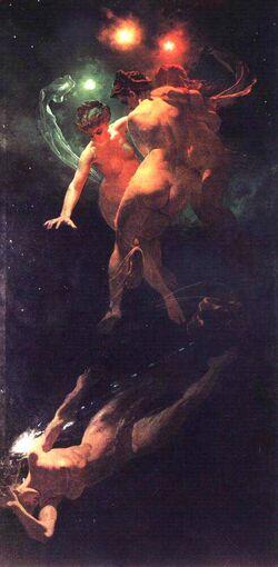 Mihály Zichy Falling Stars