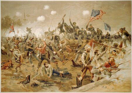 Battle of Spotsylvania - Thure de Thulstrup