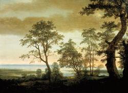 Cornelis Vroom Flusslandschaft mit Bäumen