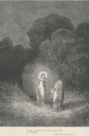 Inferno Canto 2 Beatrice bids Dante on